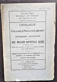 Catalogue of the Valuable Private Librry and Autograph Collectdion