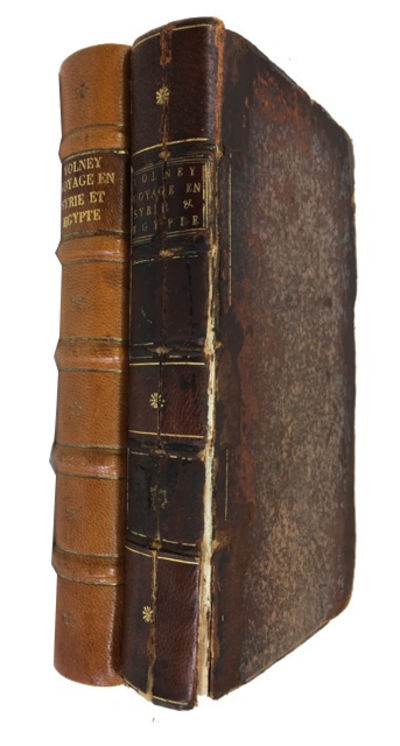Paris, 1787. 1st ed. in octavo. Hardcover. Fair. 2 vols. 2 folding maps, plan, and 2 folding plates,...