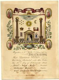 Initiation Certificate for Thomas Walker.