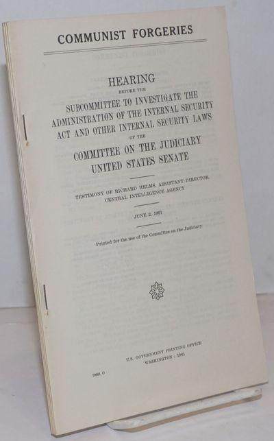 Washington DC: GPO, 1961. Paperback. ii, 121p., wraps, two folded maps, illus., very good condition.