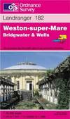 image of Weston-super-Mare, Bridgwater and Wells (Landranger Maps)