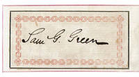 AUTOGRAPH of 19th Century Baptist Minister and Bibliophile SAMUEL GOSNELL GREEN.