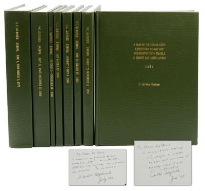 : , 1995. Near Fine. A presentation set with three volumes inscribed by the author in 1995 to evolut...