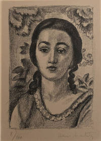 Jeune Fille aux Boucles Brun. 1924 Original signed lithograph by Matisse