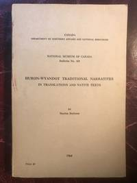Huron-Wyandot Traditional Narratives In Translation