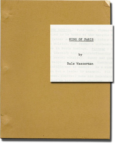 Hollywood: Goldfarb-Lewis Agency, 1970. Original Treatment script for an unproduced film. Based on G...