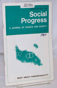 image of Social Progress: a journal of church and society; vol. 58, no. 2, November/December, 1967; What about homosexuality