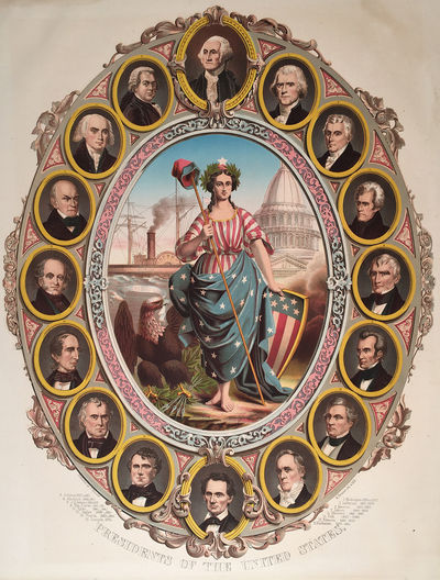 . Chromolithograph. Presidents of the United States, : Published by F. Bouclet, lithographed by A. F...