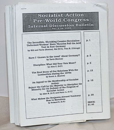 : Socialist Action, 1991. Fourteen issues, missing No. 4, each photocopied on 8.5x11 inch sheets sta...