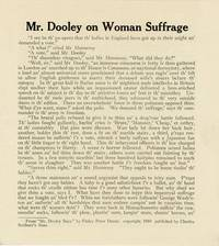 Mr. Dooley on Woman Suffrage