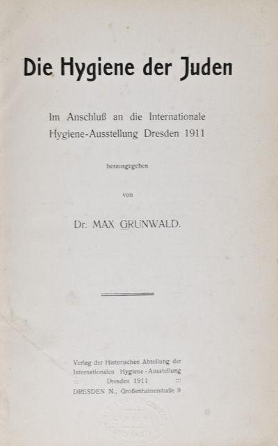 Dresden: Verlag der Historischen Abteilung der Internationalen Hygiene-Ausstellung, 1911. Hardcover....