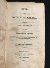 image of Notes on  a Journey in America, from the Coast of Virginia to the Territory of Illinois.