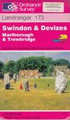 image of Swindon and Devizes, Marlborough and Trowbridge (Landranger Maps)