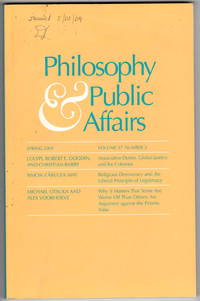 Philosophy and Public Affairs. Spring 2009. Volume 37, Number 2.