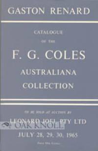 F.G. COLES AUSTRALIANA COLLECTION CATALOGUE