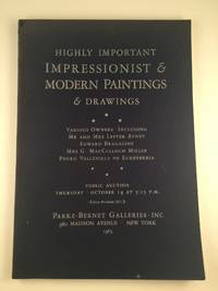 Highly Important Impressionist and Modern Paintings & Drawings