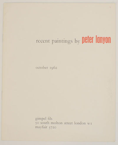 London: Gimpel Fils, 1962. First edition. Softcover. 8 pages. Exhibition catalog for a show that ran...