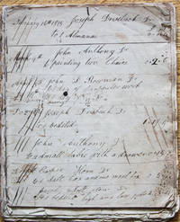 Manuscript Account Book of a Joiner, and Furniture Maker of Northampton County (later Carbon County), Pennsylvania, 1815-1827