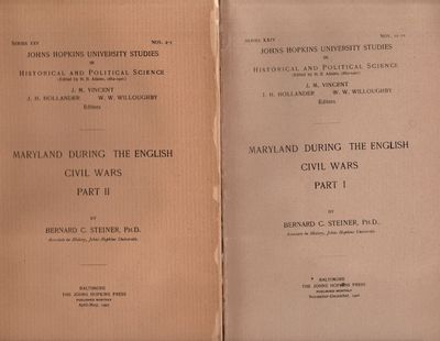 Baltimore: The John Hopkins Press, 1907. Wraps. Good +. Bound wraps. Two parts: 81 pages, ; 118 page...