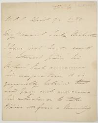 image of Autograph Letter Signed to Anne, (widow of Admiral Sir Richard Hussey Bickerton, (Sir Edmund, 1790-1858, Admiral and Diplomat, from 1856 1st Baron)