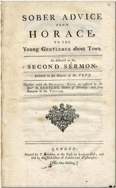 London: Printed for T. Boreman, 1734. 12ff. Folio. Extracted and inserted in later stiff plain wrapp...