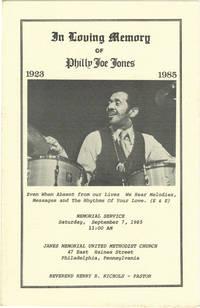 In Loving Memory of Philly Joe Jones, 1923-1985 (Original Program)