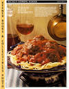 image of McCall's Cooking School Recipe Card: Pasta, Rice 12 - Spaghetti And  Meatballs (Replacement McCall's Recipage or Recipe Card For 3-Ring Binders)