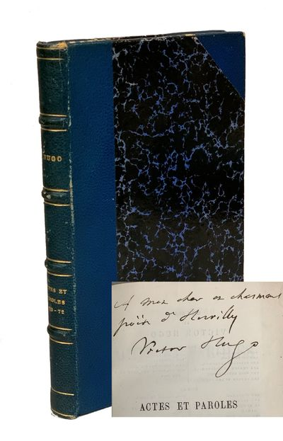 Paris: Michel Lévy Frères, 1872 First edition. Presentation copy, signed and inscribed by Hugo on ...