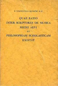 Quae ratio inter scriptores de musica medii aevi et philosophiam scholasticam existat.