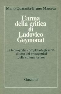 L'arma della critica di Ludovico Geymonat