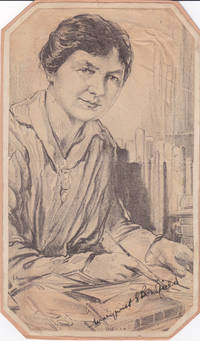 image of NEWSPAPER PORTRAIT, AFTER A DRAWING, SIGNED BY BRITISH LABOR LEADER AND SUFFRAGIST MARGARET BONDFIELD.