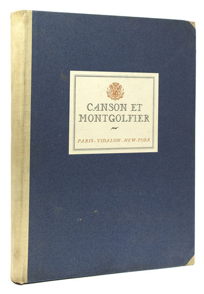 [New York: Canson et Montgolfier, 1925. Number 90 of 500 copies prepared for the Friends of Canson e...