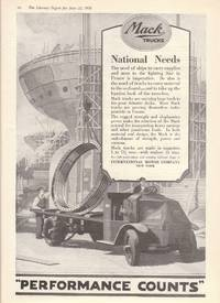 image of 1918 Full Page Advertisement for Mack Trucks