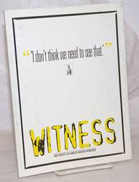 image of Witness: AIDS Project Los Angeles Writers Workshop; volume three:
