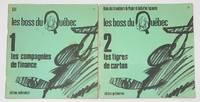 image of Les boss du Quebec [Two volumes: Compagnies de finance, par le groupe de recherches economiques (with) Tigres de carton, par l'union des travailleurs du papier et du carton faconnes]