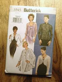 BUTTERICK SEWING PATTERN: #3345, Size: 18-20-22: EASY: Misses' Jacket & Cape