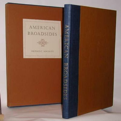 Barre, Mass.: Imprint Society, 1971. Limited first edition. In fine condition bound in 1/4 blue and ...
