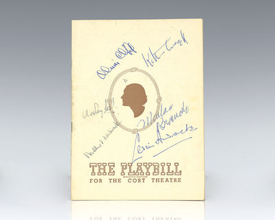 Playbill Incorporated, 1946. Rare original playbill from the 1946 production of George Bernard Shaw'...