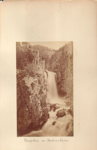 Very Good. Albumen print of Mary's Veil located on the Sevier River in Southern Utah. Print measures...
