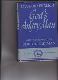 image of God's Angry Man by Ehrlich, Leonard