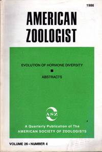 Evolution of hormone diversity (Symposium held on 27-30 December 27 and 28 at Denver, Colorado, Texas in the Annual meeting of the American Society of Zoologists). In 8vo. broch., pp. 925-1062. Contains 11 contributions. Issue n. 4 of American Zoologist vol. 26