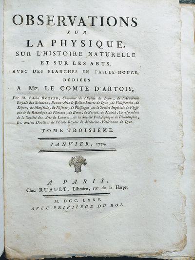Paris: Chez Ruault, 1775. Original edition. Very Good. 2 volumes Quarto (28 cm); 464; 504 pages, 25 ...