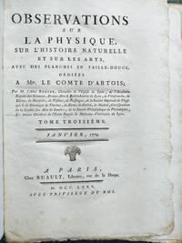 Observations sur la physique, sur l'histoire naturelle et sur les arts,... Tome troisième [with] Tome quartième [Janvier-December 1774]
