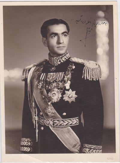 Shah of Iran Mohammed Reza Pahlavi...