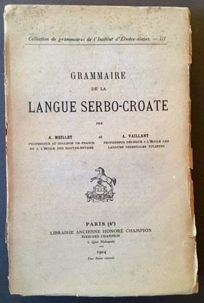 Paris: Librairie Ancienne Honore Champion, 1924. 1st. Original Wraps. Collectible; Very Good. The 19...