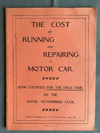 image of The Cost of Running and Repairing a Motor Car