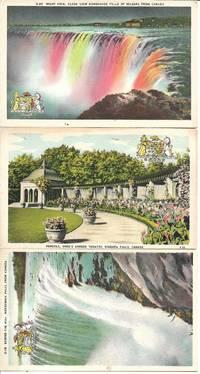 Niagara Falls - Collection/Lot of 7 UNUSED White Bordered Postcards - Circa 1940s