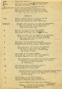 THE CHRISTMAS ORATORIO [FOR THE TIME BEING]: CARBON COPY OF A TYPED MANUSCRIPT WITH CHORAL SETTINGS