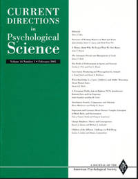 Current Directions in Psychological Science (Volume 14, Number 1, February 2005) by American Psychological Society - Paperback - 2005 - from Diatrope Books and Biblio.com