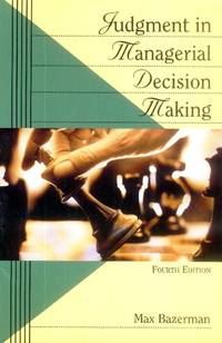 image of Judgment in Managerial Decision Making (4th Edition)